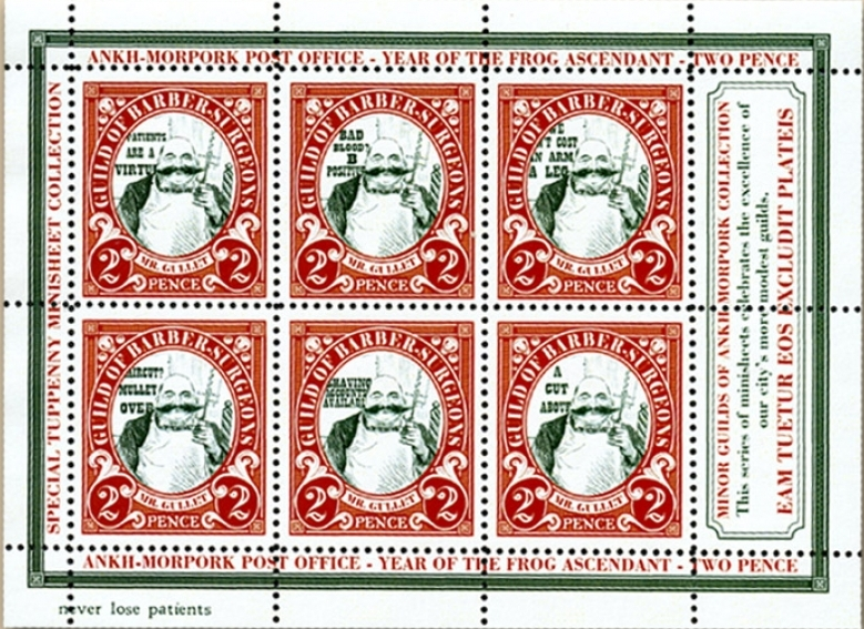 Barber Surgeon Guild Stamps