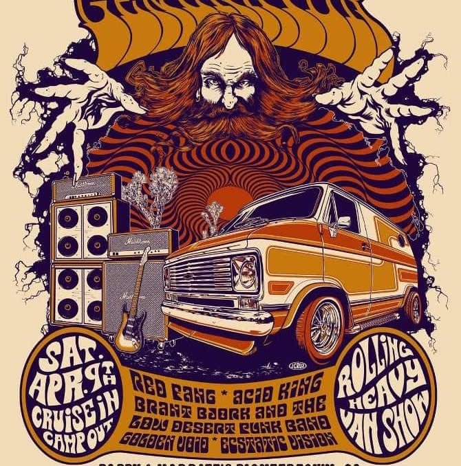 desert generator rolling heavy van show