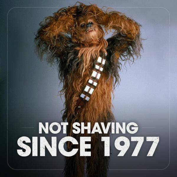 Chewbacca not shaving since 1977